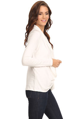 Women's Ivory Long Sleeve Criss Cross Cardigan Sm-3XL Athleisure Made in USA