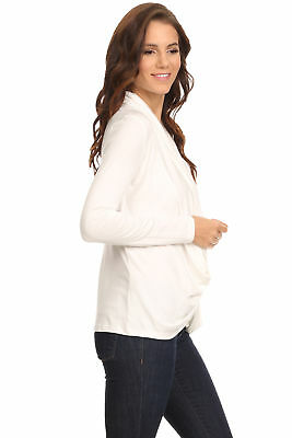 Women's Ivory Long Sleeve Criss Cross Cardigan Small to 3XL Made in USA