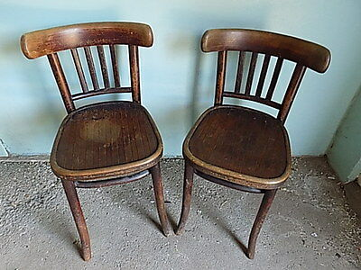 Pair Of Vintage~Antique~Bentwood Chairs~Kitchen~Dining