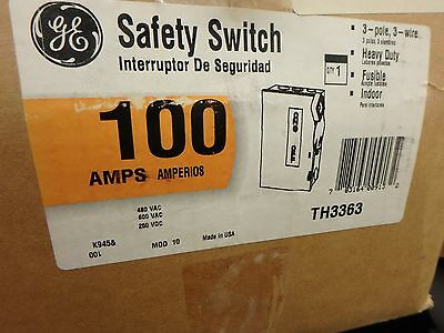 GENERAL ELECTRIC TH3363R DISCONNECT & SAFETY SWITCH  Model 10