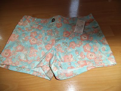 New With Tags! Girls Floral Shorts FLORENCE & FRED Age 13-14