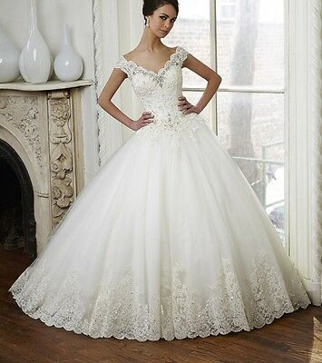 New White/Ivory Wedding dress Bridal Gown Custom Size6-8-10-12-14-16++++