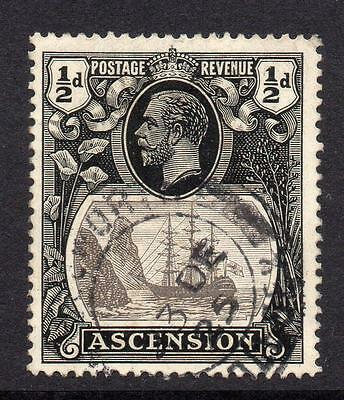 Ascension 1/2d Stamp c1924-33 Used SG10