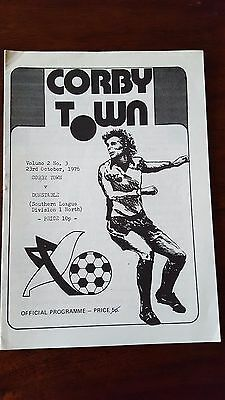 Corby Town V Dunstable 23.10. 1976 - Southern League