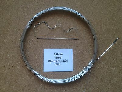 0.8mm x 10m 21 SWG Stainless steel Wire Floristry Craft Bonsai Fishing Lures