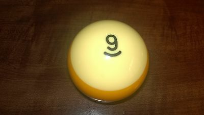 """Replacement #9 Billiard Pool Ball ...  2.25"""" Size...Great Condition"""