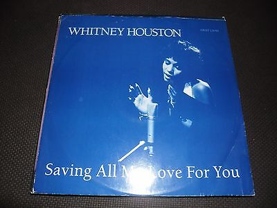 """Whitney Houston """"Saving all my love for you"""" Arist 12640 Great Cond"""