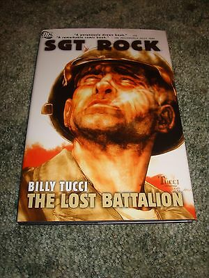 Dc Comics Sgt. Rock The Lost Battalion Billy Tucci Signed Hardcover No Reserve