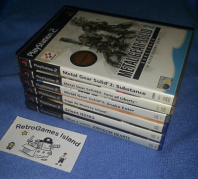 Lotto 6 Giochi Sony Playstation 2 Stock  Ps2 Ps3 Metal Gear Silent Hill Monkey