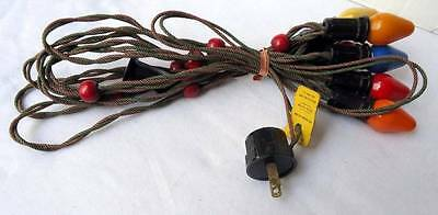 Vintage C-7 String Christmas Tree Lights Working Condition #a98