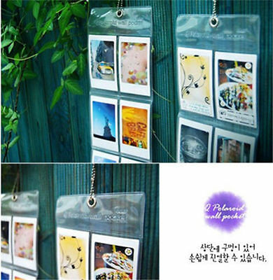 """50 Pocket 3"""" Clear Wall Hanging Album Instax Mini Polaroid Photo Picture Display"""
