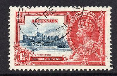 Ascension 1 1/2d Silver Jubilee Stamp c1935 Used SG31