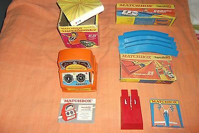 joblot vintage matchbox/superfast track accessories boxed,for diecast cars