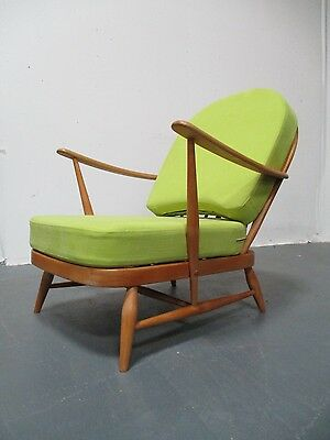 Retro Ercol 203 Armchair Atomic Heal's Daybed 1970's Romo Linara Fabric