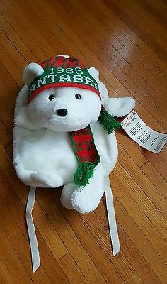 Santa Bear backpack Nwt 1986