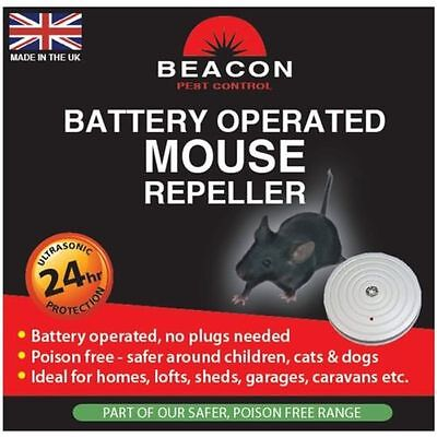 Rentokil Battery Operated Portable Ultrasonic Mouse Repeller Ideal Long Term