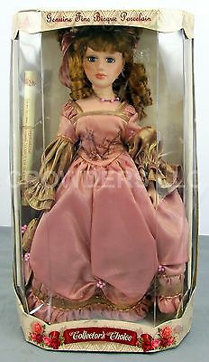 """Collector's Choice Genuine Fine Bisque Porcelain Victorian Clothing 17"""" Doll NiB"""