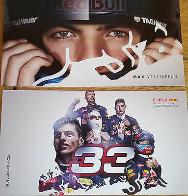 NEW RBR #33 Max Verstappen Driver Card Red Bull Racing TAG Heuer F1 Holland