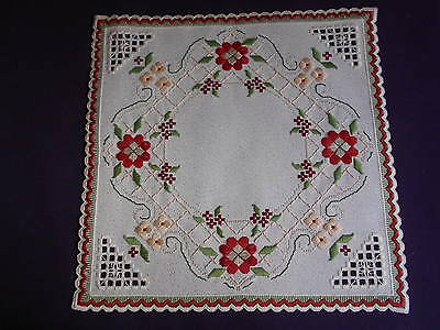Beautiful Sparkly Victorian Hardanger/Cross Stitch Christmas Doily