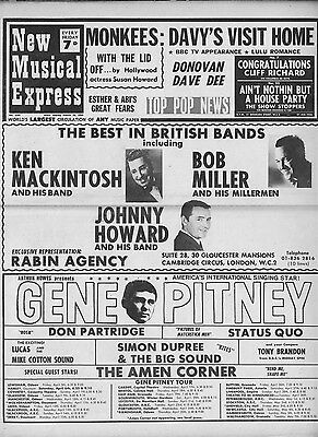 NME/New Musical Express #1107 March 30 1968 Monkees Donovan Gene Pitney