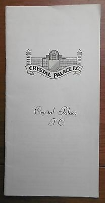 Crystal Palace V Chelsea F.a. Cup Football Programme 2-1-1971 - Vgc !