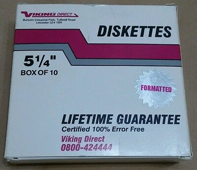 "15 x viking direct high density 5 1/4"" floppy discs / disks / diskettes."
