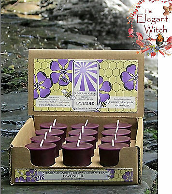 1 Lavender Beeswax Aromatherapy Votive Candle Ritual Spell Magick Wicca Witch
