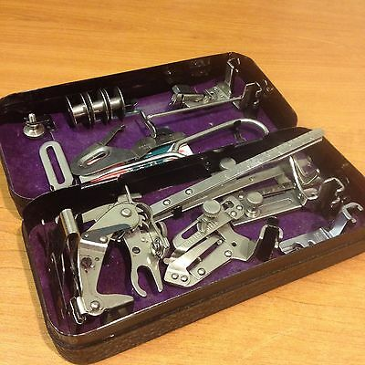 Metal Box / Tin of Vintage Singer Sewing Machine Accessories/Attachments