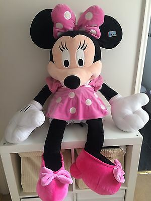Extra Large Disney Minnie Mouse Doll Pink Dress  Plush Soft Toy