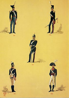 Royal Artillery Officers Large Modern Military Postcard Exc