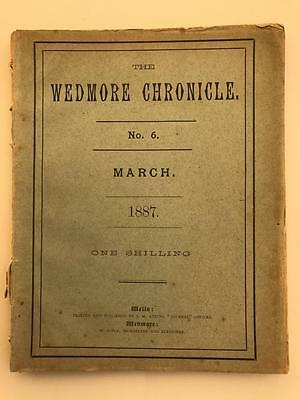 Rare 1887 Wedmore Chronicle No 6 Village Magazine Printed in Wells Somerset