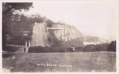 RP SHANKLIN KEATS GREEN CLIFF LIFT  I.O.W  ISLE OF WIGHT REAL PHOTO c1912