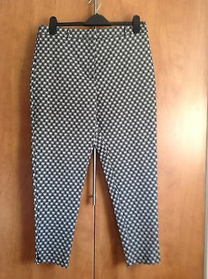 New Look Black & White Trousers Size 14