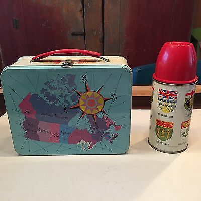 Vintage GSW metal lunchbox Canada with thermos set