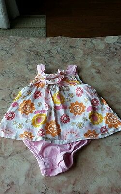 0-3 months Carters floral dress with built-in bottoms baby girls clothes summer