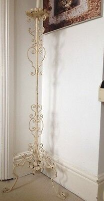 Beautiful French Floor Standing Metal Candlestick