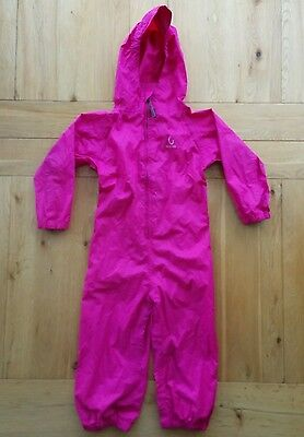 Waterproof Suit Childs Pink Hippychick Lightweight with bag, Good condition