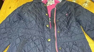 Joules girls quilted jacket blue age 9 -10 years