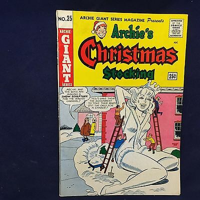 ARCHIE'S CHRISTMAS STOCKING #25 VERY FINE MINUS Silver Age Giant Series
