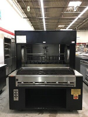 """J & R Manufacturing 801C - 64"""" Woodshow Broiler with Charbroiler - Refurbished"""