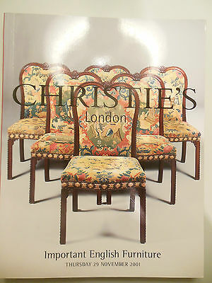 Christie's 2001 Auction Catalogue: Important English Furniture