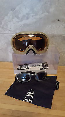Sinner Double Crystal Ski Goggles and Glasses Anti Fog cat2 (adult size)