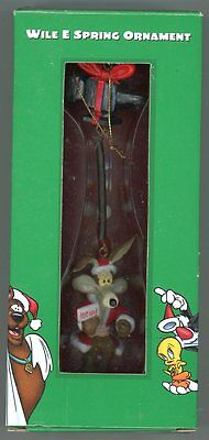 "Warner Brothers Store - Wile E Coyote - ""Wile E Spring Ornament"" - 1998"