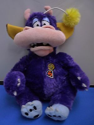 BOGGLE  the PURPLE CHEEKY MONSTER 16 INCHES HIGH EX CONDITION
