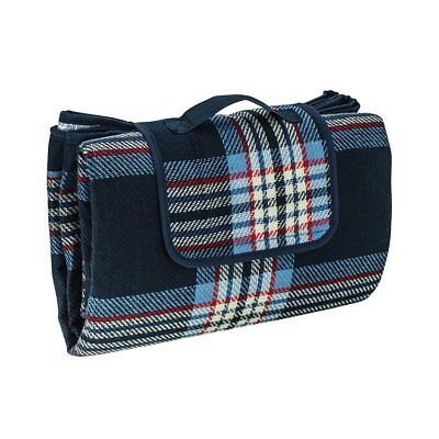 NEW Avanti Picnic Blanket 170x145cm Navy Check (RRP $80)