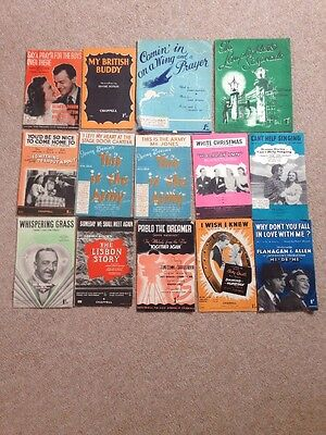 Job Lot Two Of Various Music Song Sheets.