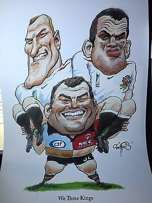 HARLEQUINS and ENGLAND WORLD CUP RUGBY UNION FINE ART PRINTS by GRIFFIN
