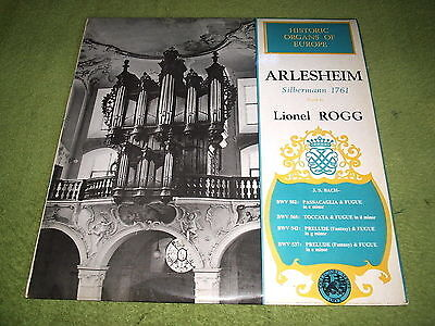 LIONEL ROGG : Bach Organ Works, Silbermann Organ at Arlesheim - Oryx 1751 LP