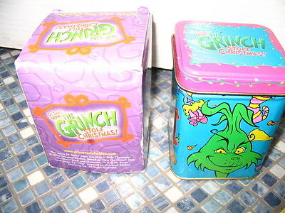 Dr Seuss Grinch Who Stole Christmas Tinned Candle Brand New Rare