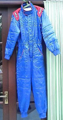 Boy's Go Carting Racing Suit and Sparco Racing Bag